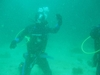 36 ft under water it was my 6 dive  cool day