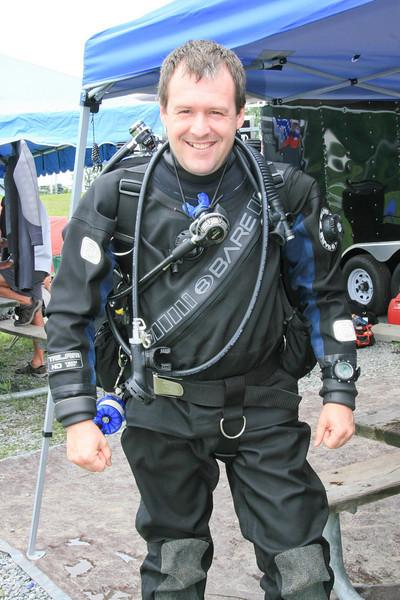Myself (JF) in drysuit with my LP85s