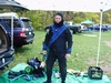 Posing prior to getting the drysuit wet.