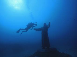 Italy, Tremiti Island - Padre Pio on 17m and my very good friend Rudi.