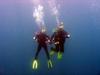 Me & Hubby diving Panama City Beach, FL