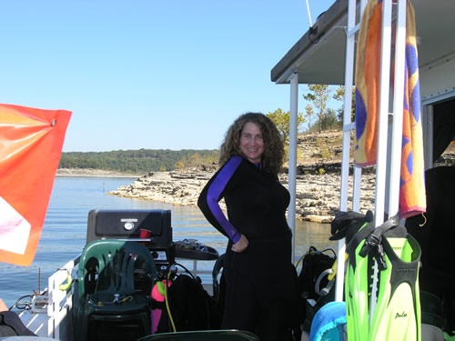 Me on Bull Shoals houseboat trip