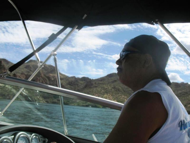 Boating at Saguero Lake