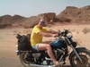 Riding along the Dead Sea in Israel