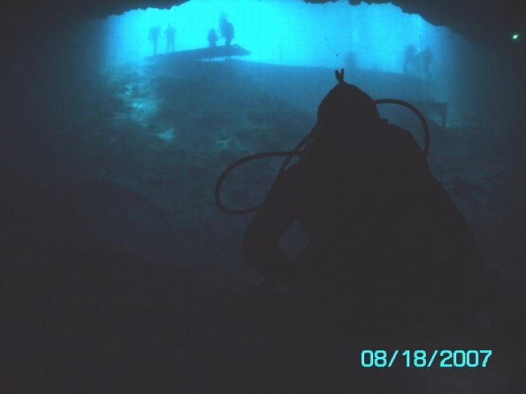 Cool backlight photo. Blue Grotto. Williston FL.