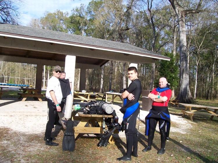 """The Boys"" at Ginnie Springs. Feb 08"
