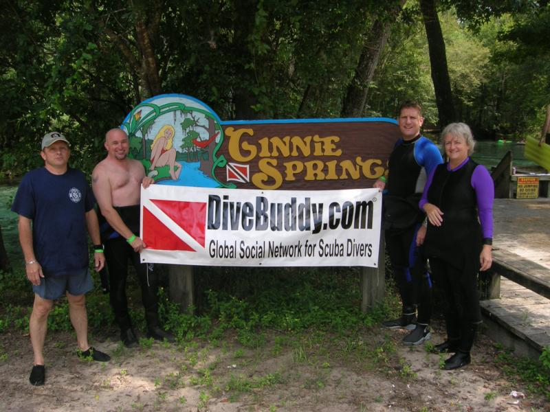 DiveBuddy sign at Ginnie Springs.