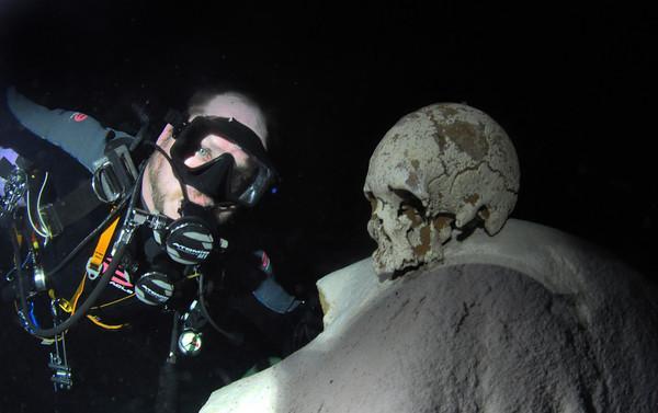 Skull in a Mexican Cenote