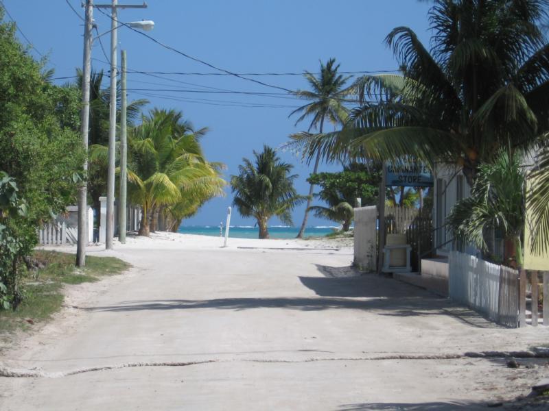Street View in front of Paz Villas, San Pedro,BZ