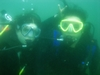 My fiance and I diving during our AOW course, summer `07