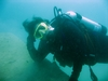 Yours truly diving at Portage Quarry, OH, Sept. of `07