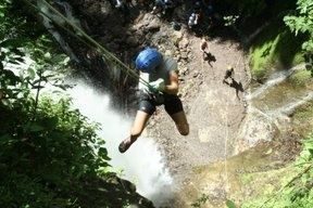165` drop waterfall repelling Costa Rica