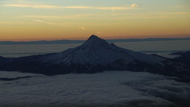 Mt Hood on a December morning
