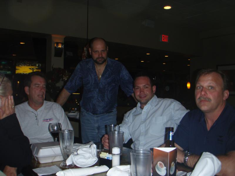 Dinner with Mark, John, and Richie.