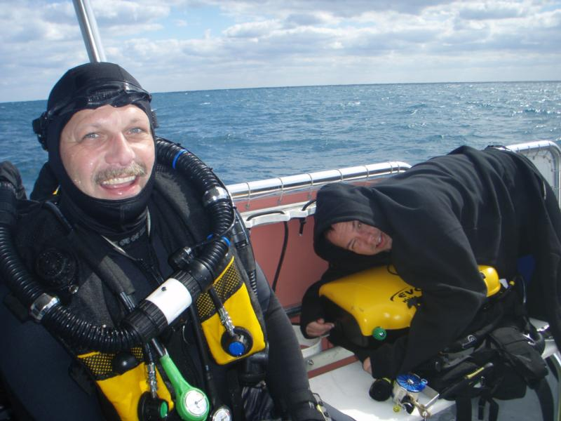 My dive buddy. My partner in crime. Where's the compassion??