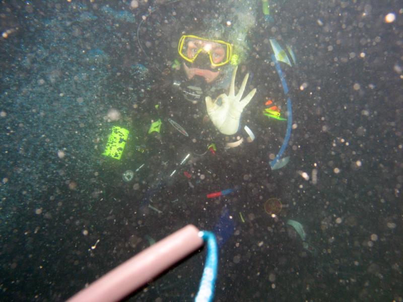 Carolina exiting a shipwreck