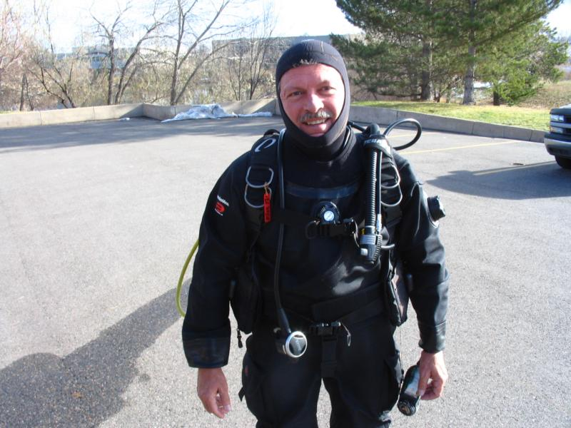 1st Dry Suit Dive