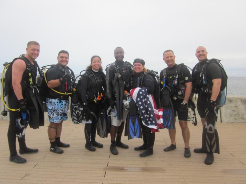 Military Reenlistment Underwater