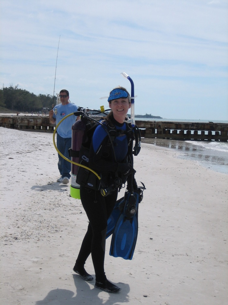 Going in for a beach dive 3/1/08