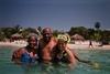 With AUE members Arlita & Kim in Roatan - rgalon