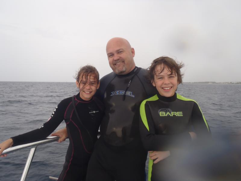 On the Dive Boat with my Kids