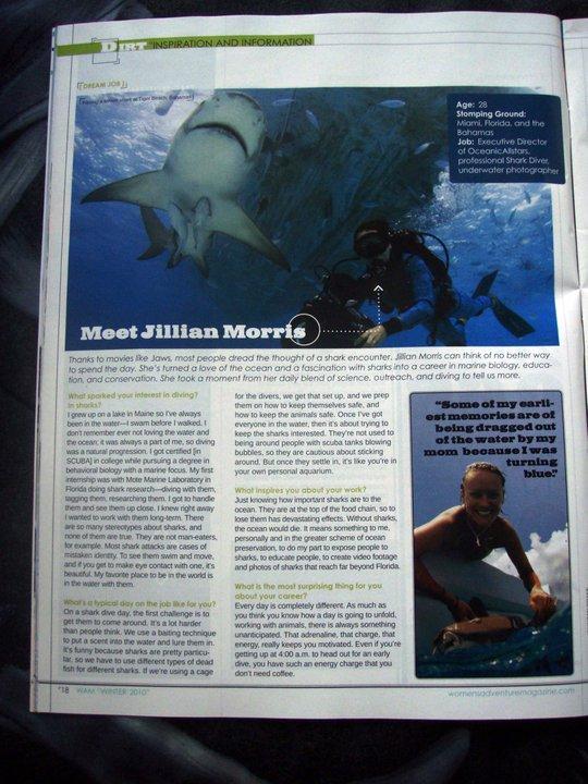Jillian in Women's Adventure Magazine