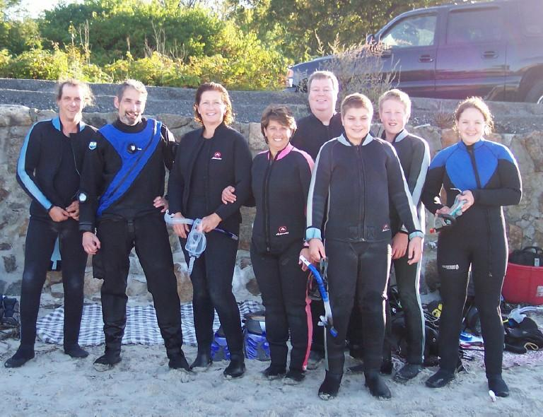 Diving Gloucester MA, Divebuddys Uwnewbee and Eric r on left