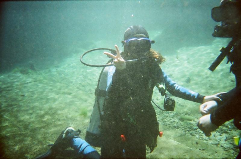 Claudia our newest diver!!!! CONGRATS!!!!