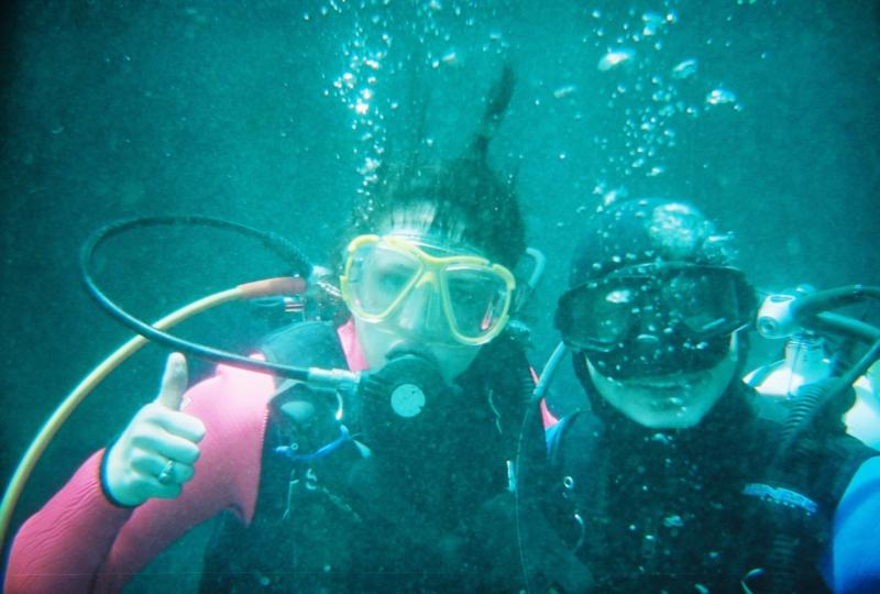 Dale & I under water (my first Dive)