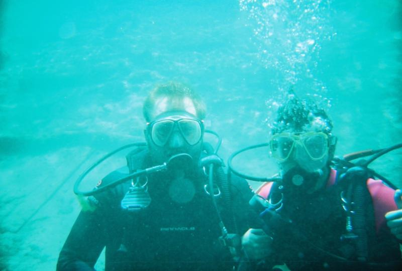 Andrew & I under water (my first Dive)