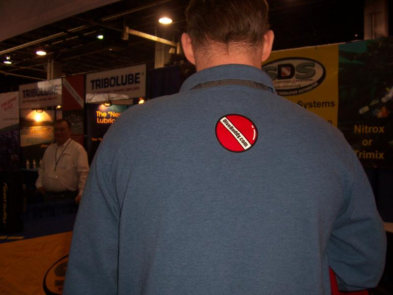 Dive Buddy sticker on shirt..OWU