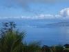 View of neighboring islands from Taveuni Fiji.