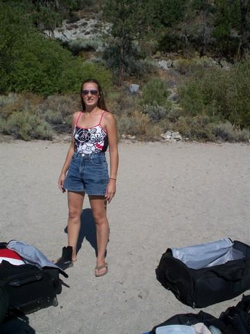 Just getting ready to dive at Cave Rock, Nevada