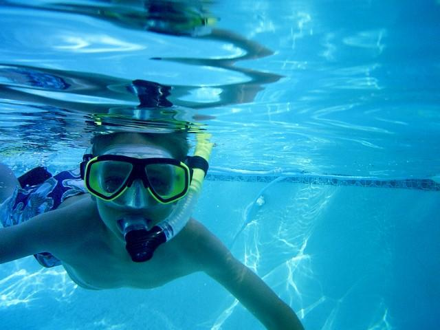 Training to dive - age 8