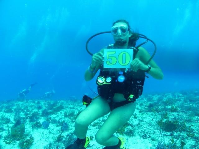 I got my 50th dive !!!