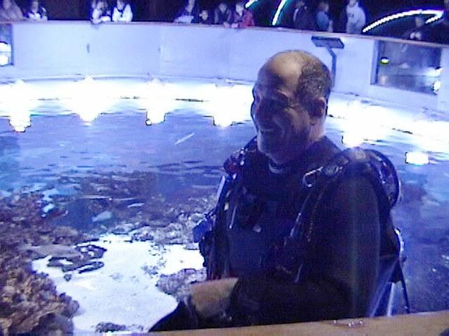 Chatting With Guests - New England Aquarium