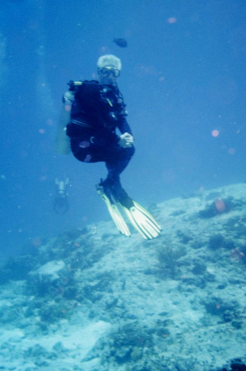 Me Showing off Buoyancy control skills