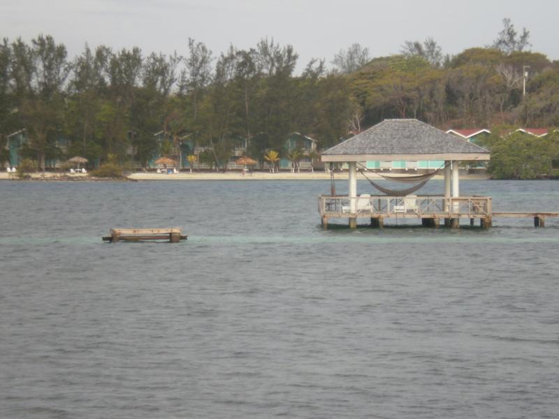 dive platform at Coco View Resort, Roatan, Honduras