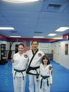 my kick arse green belt children with Grand Master Lee