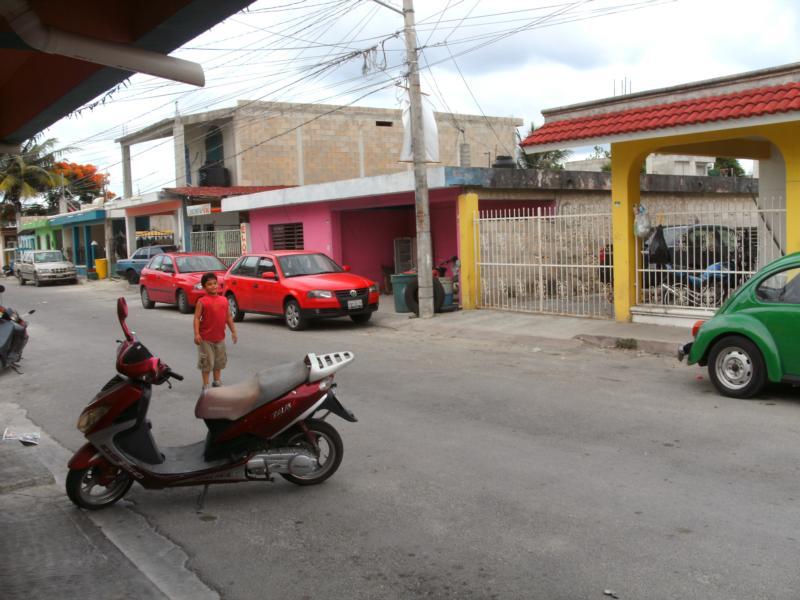 Outside El Moro's Cozumel