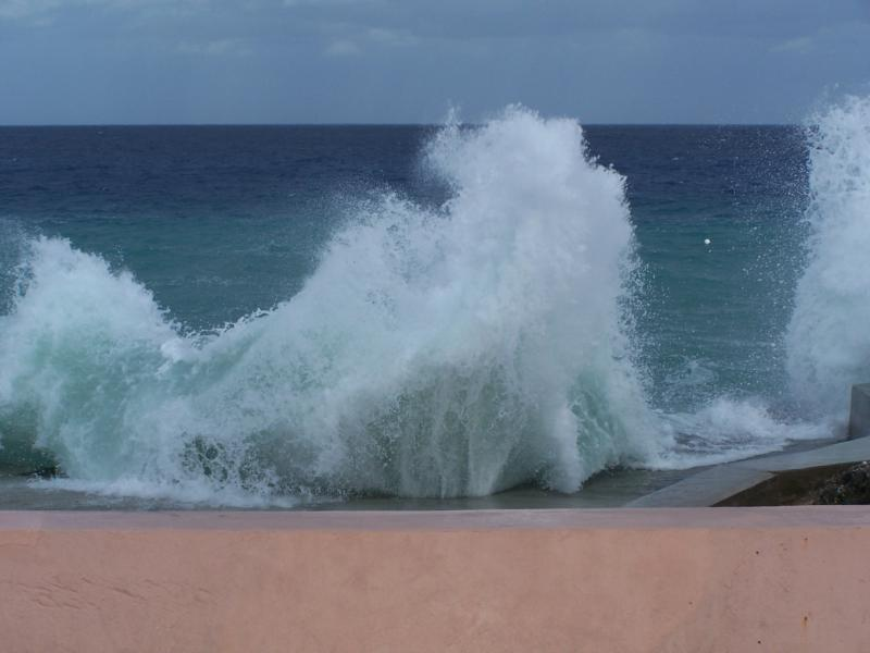 No Beach Entry Today.... Surf's Up Dude..