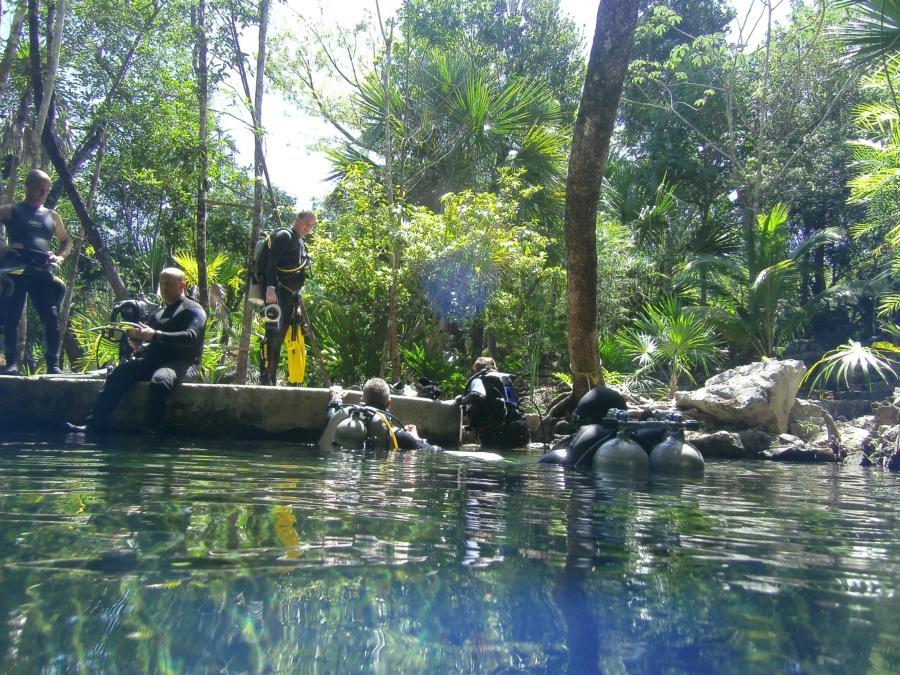 """Getting out """"Cenote"""""""