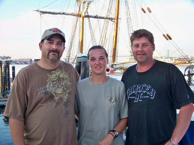 Me,Christina,& Captain George of the Sand Dollar out of San Pedro 10-24-2009