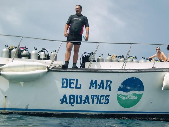 Jeff in Cozumel on the dive boat