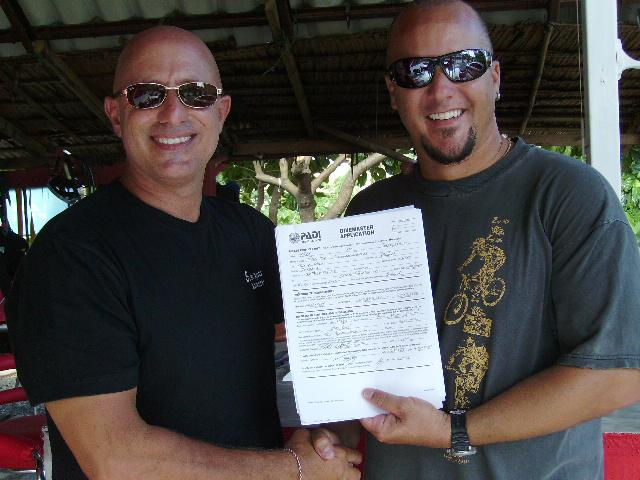 Todd from America finished the Divemaster program