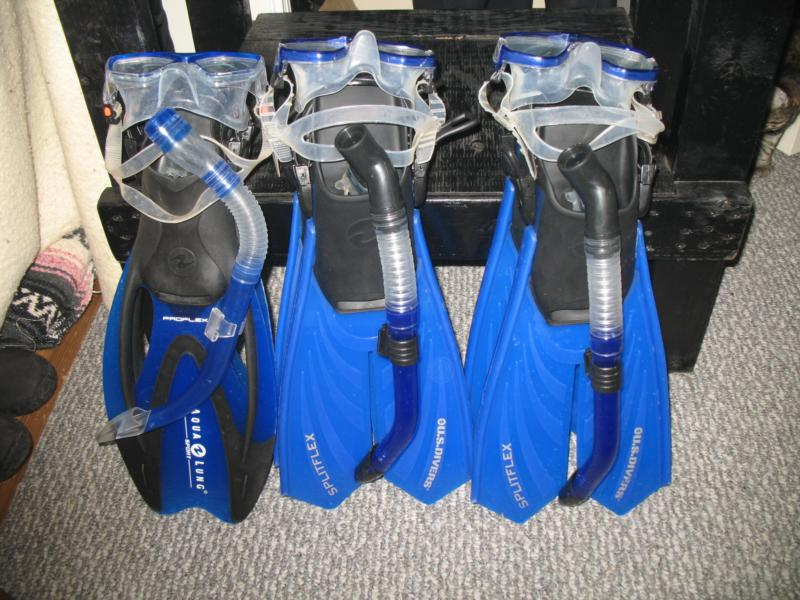 our snorkeling gear