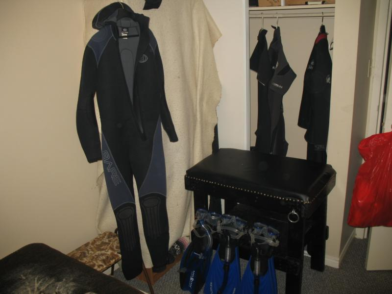 My Bare one piece 7mm wetsuit
