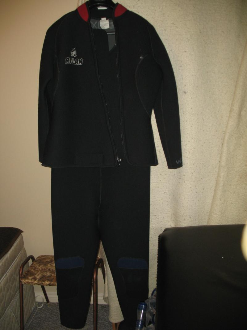 My wifes Atlan 7mm 2 piece wetsuit