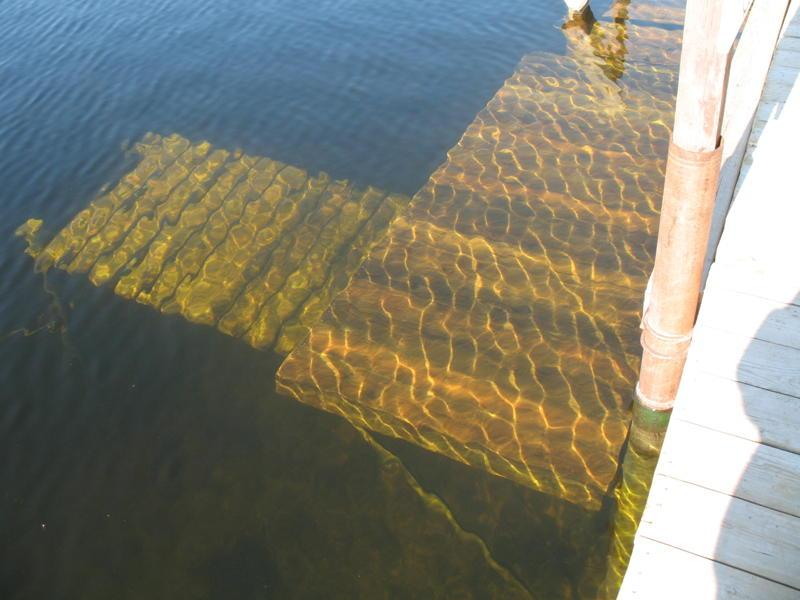 The dive platform at the Twin lakes dock