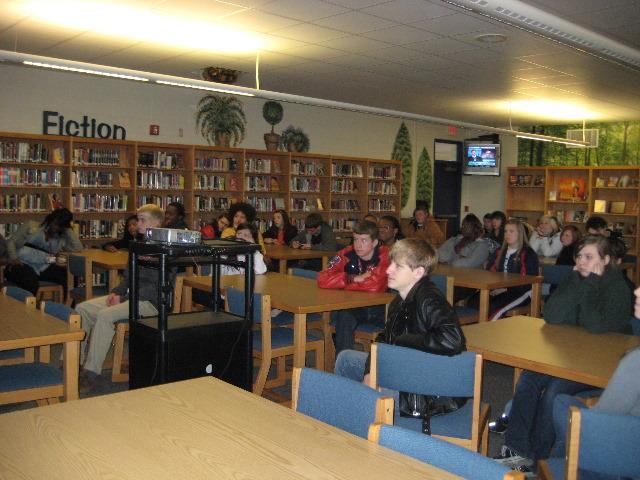 Honea-Path HS Students at Presentation